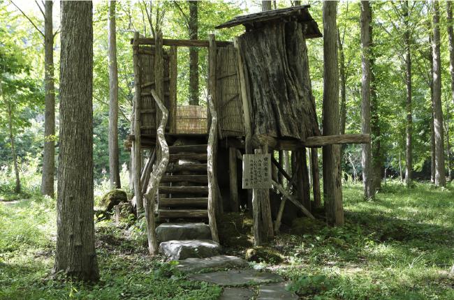 トム・ソーヤーのツリーハウスみたいな「かつらの湯」