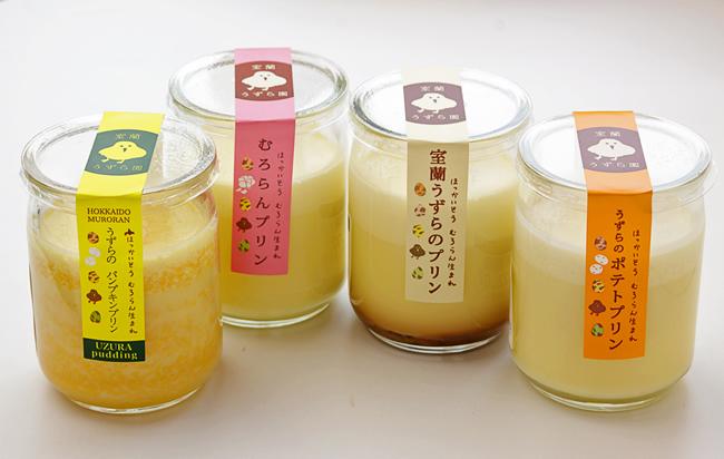 うずらのプリン3種(かぼちゃ、ゆりね、男爵いも)各90g430円
